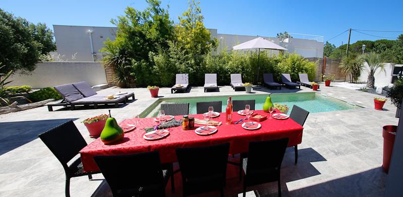 manger et se détendre dans une maison de location au Grau d'Agde